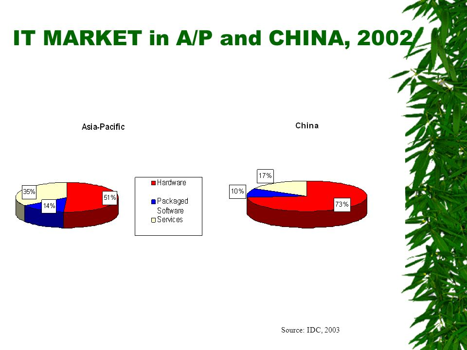 Source: IDC, 2003 IT MARKET in A/P and CHINA, 2002