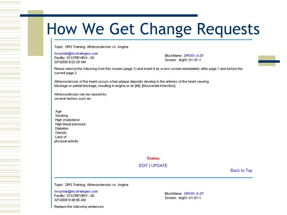 How We Get Change Requests