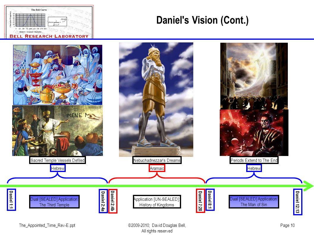 The_Appointed_Time_Rev-E.ppt©2009-2010; David Douglas Bell, All rights reserved Page 10 Daniel's Vision (Cont.) Daniel 1:1 Daniel 2:4a Daniel 2:4b Dan