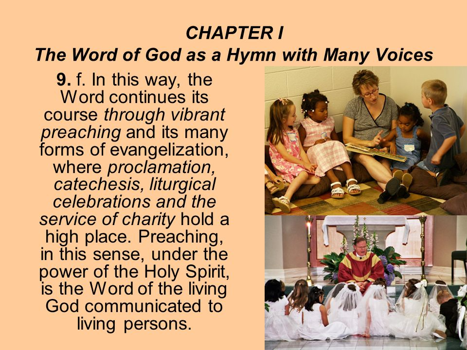 CHAPTER I The Word of God as a Hymn with Many Voices 9.