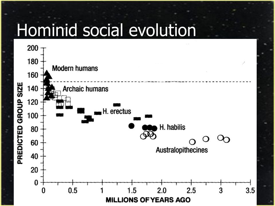 Hominid social evolution