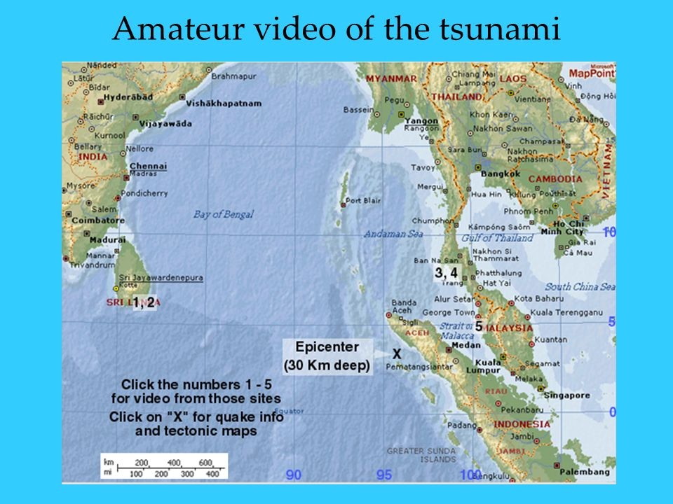 Amateur video of the tsunami
