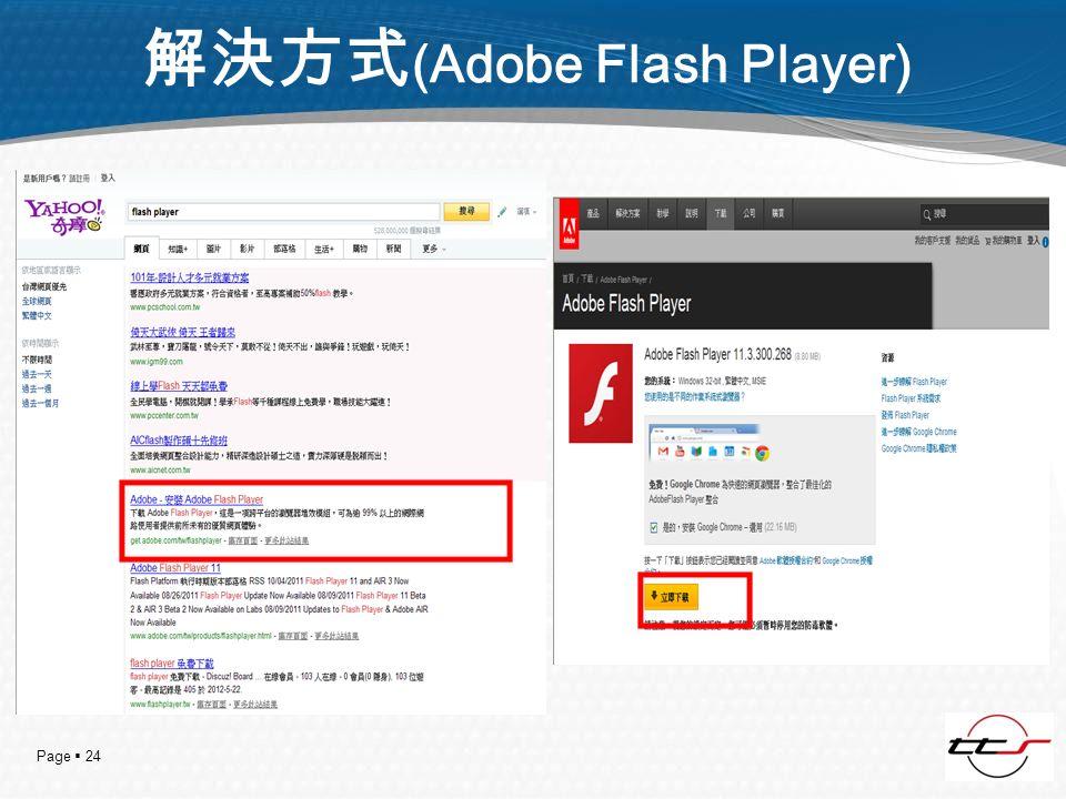 Page 24 (Adobe Flash Player)