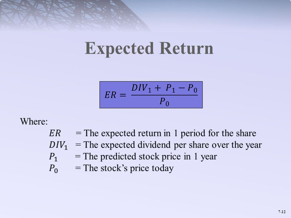 7-12 Expected Return