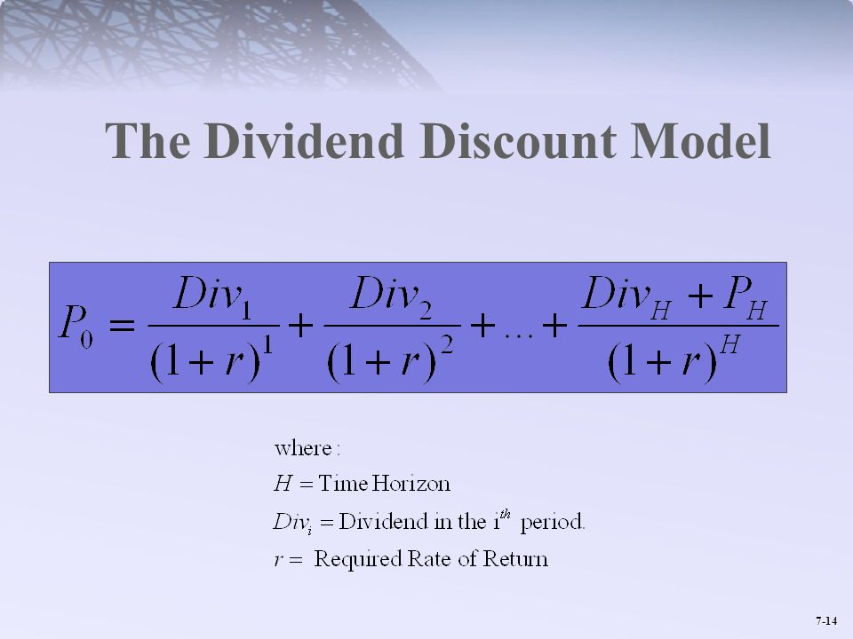 7-14 The Dividend Discount Model