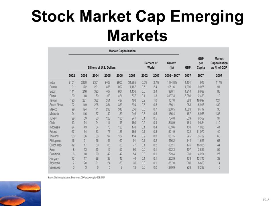 19-5 Stock Market Cap Emerging Markets