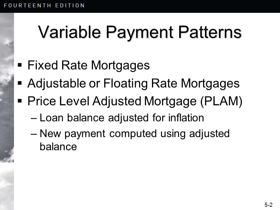 5-23 Adjustable Rate Mortgages The new interest rate cannot be higher than 9% due to the interest rate cap.