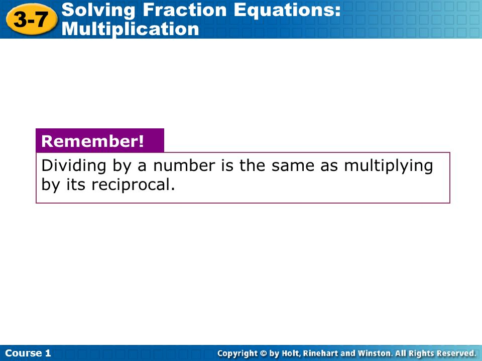 math worksheet : 3 7 solving fraction equations multiplication course 1 warm up  : Solving Fractional Equations Worksheet