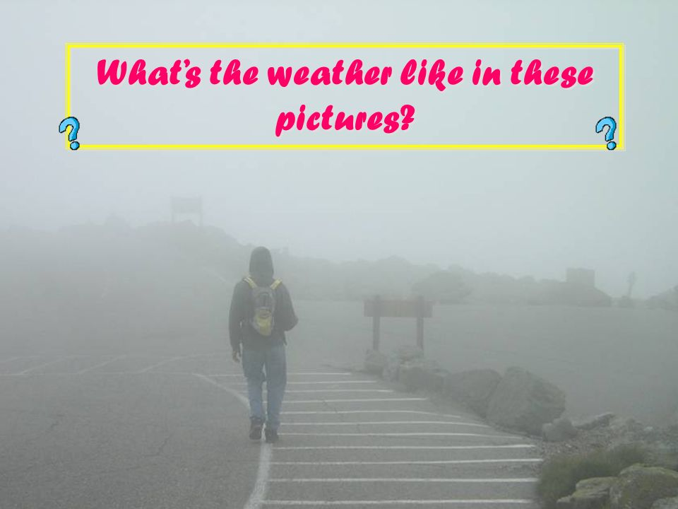Whats the weather like in these pictures?