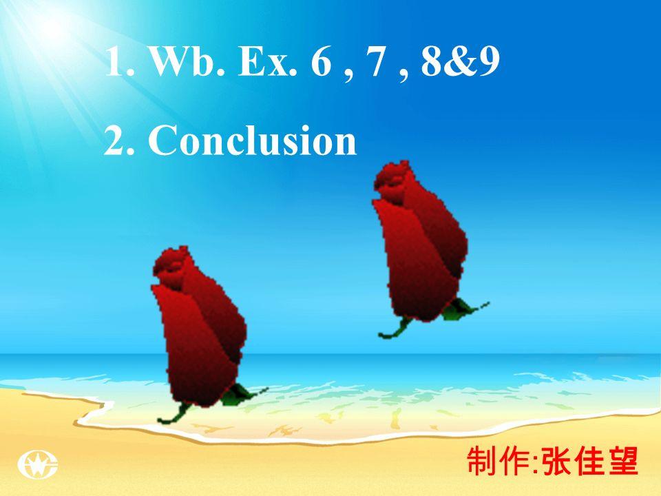 : 1. Wb. Ex. 6, 7, 8&9 2. Conclusion