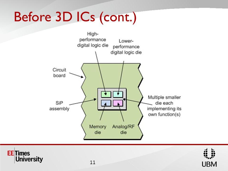 Before 3D ICs (cont.) 11