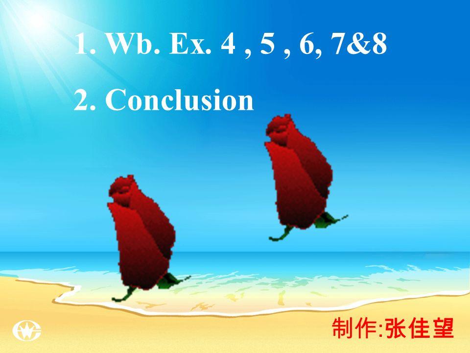 : 1. Wb. Ex. 4, 5, 6, 7&8 2. Conclusion
