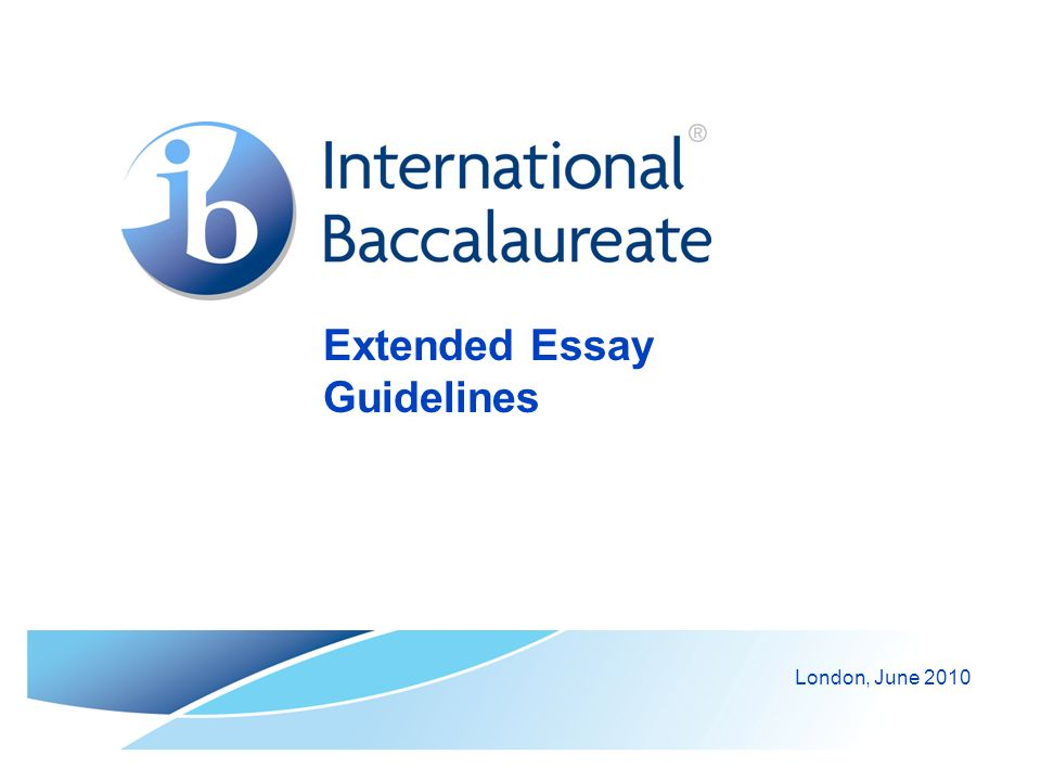 © International Baccalaureate Organization 2007 4.