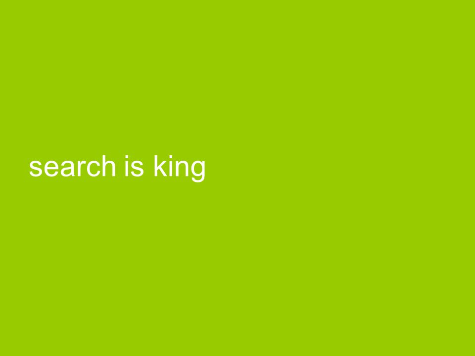 search is king