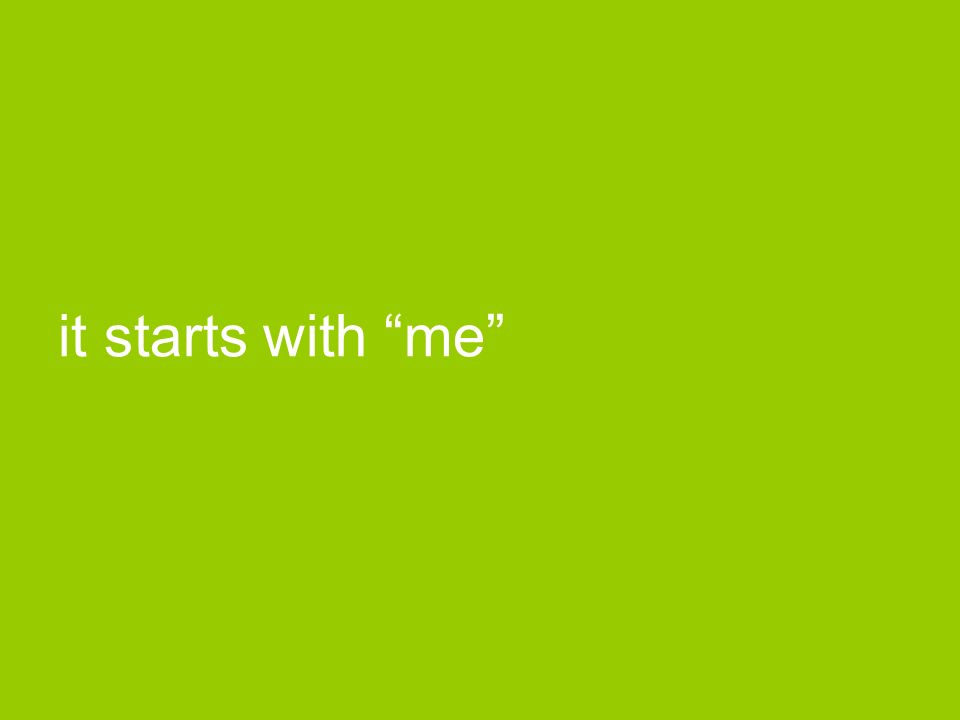 it starts with me