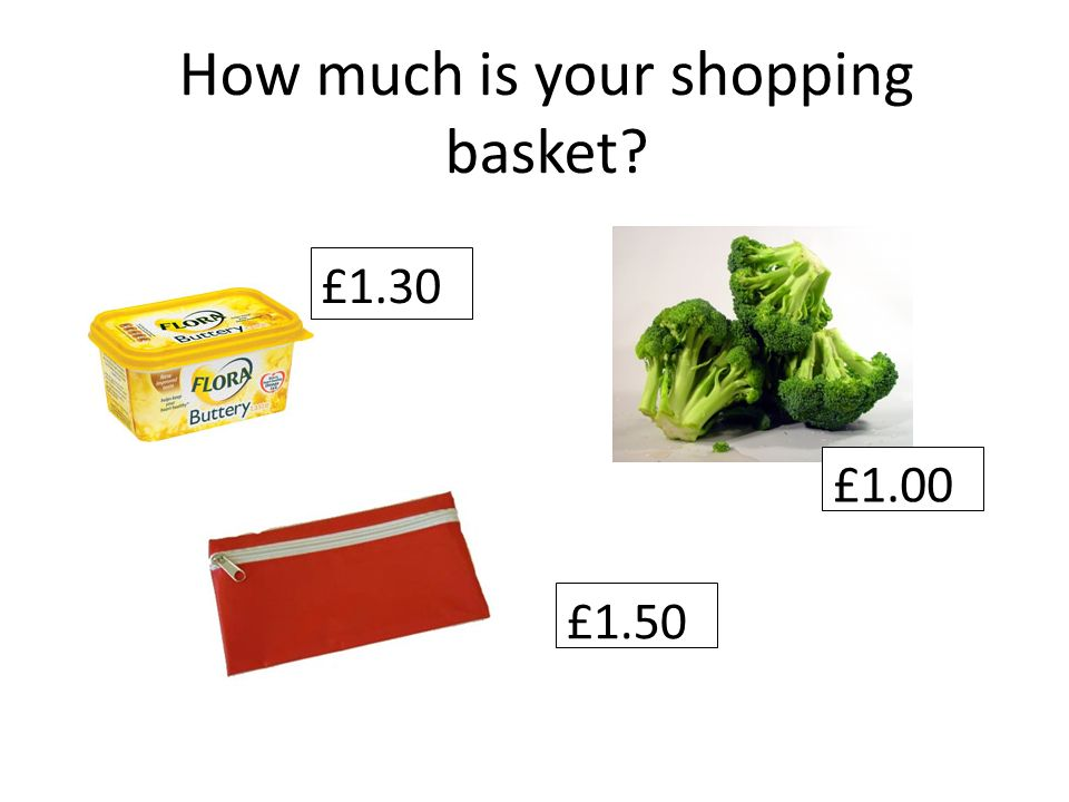 How much is your shopping basket £1.30 £1.00 £1.50