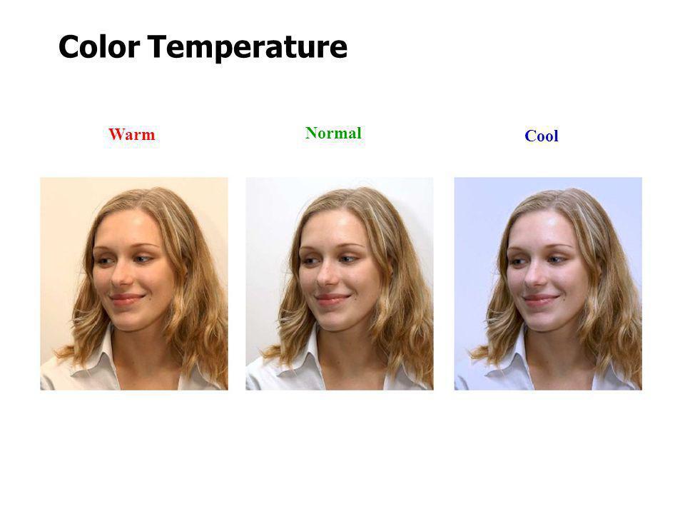 Color Temperature Normal Warm Cool