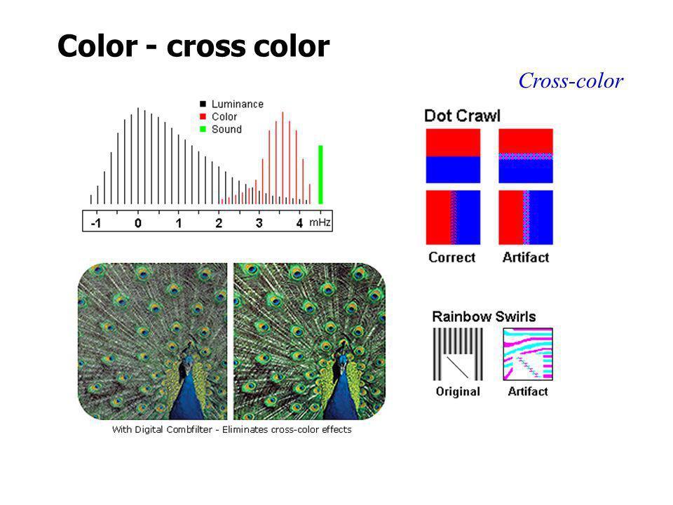 Color - cross color Cross-color