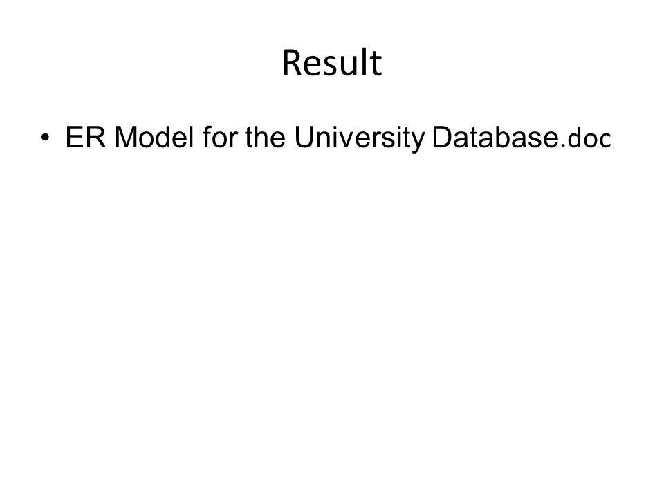 Result ER Model for the University Database.doc