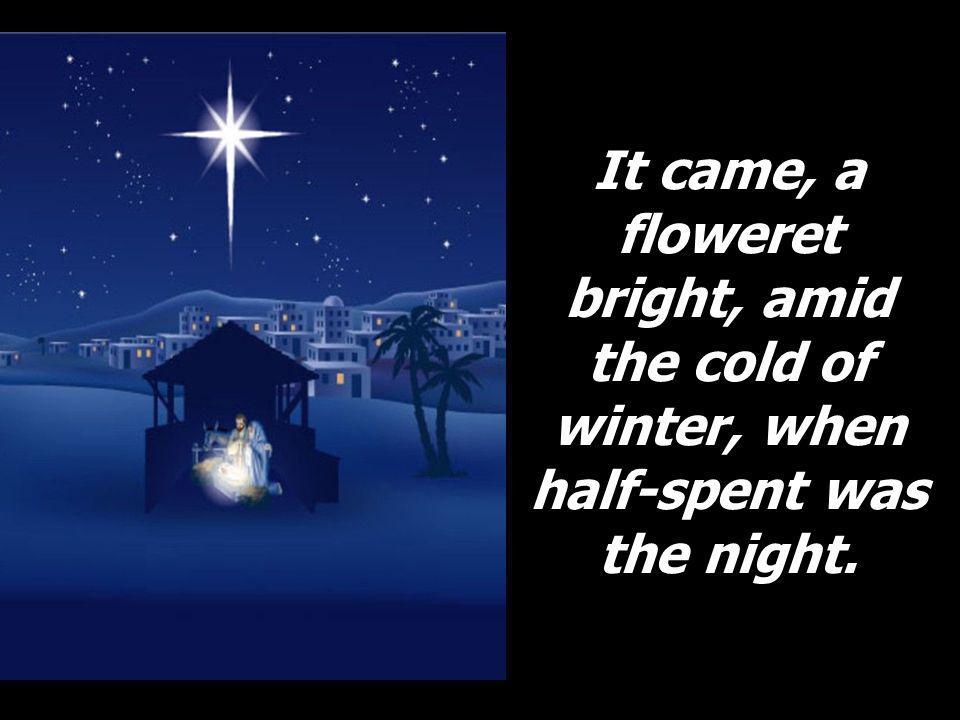 It came, a floweret bright, amid the cold of winter, when half-spent was the night.