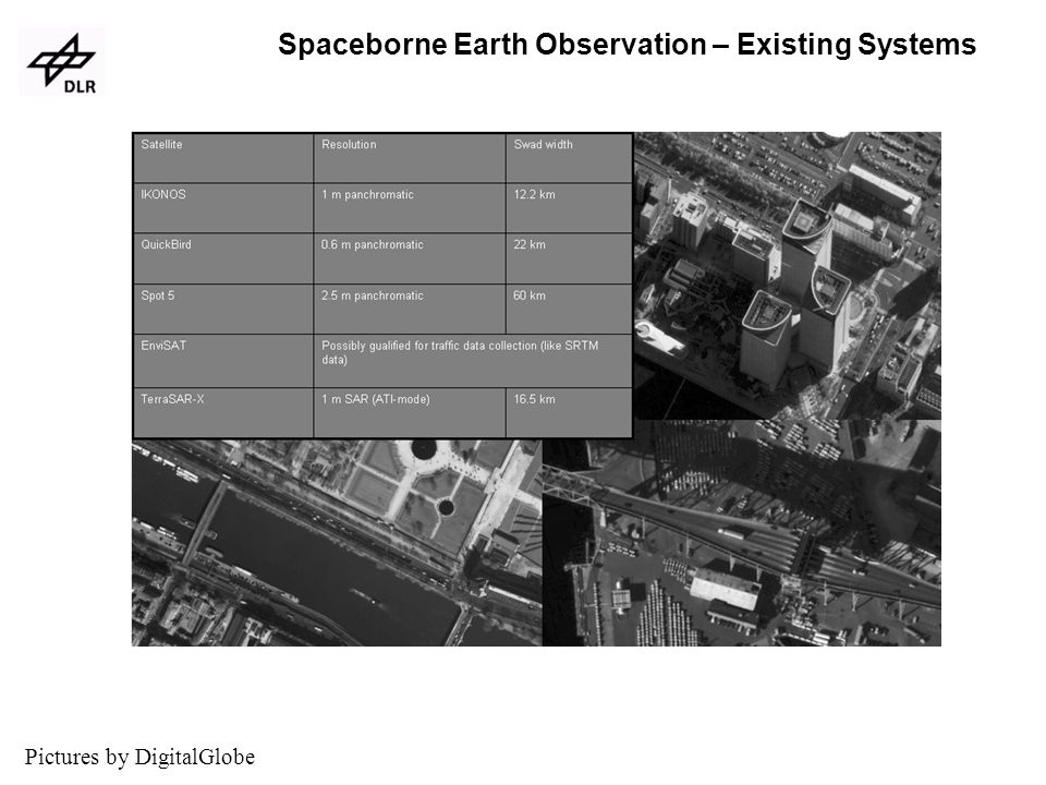 Spaceborne Earth Observation – Existing Systems Paris Tokio Boston Pictures by DigitalGlobe