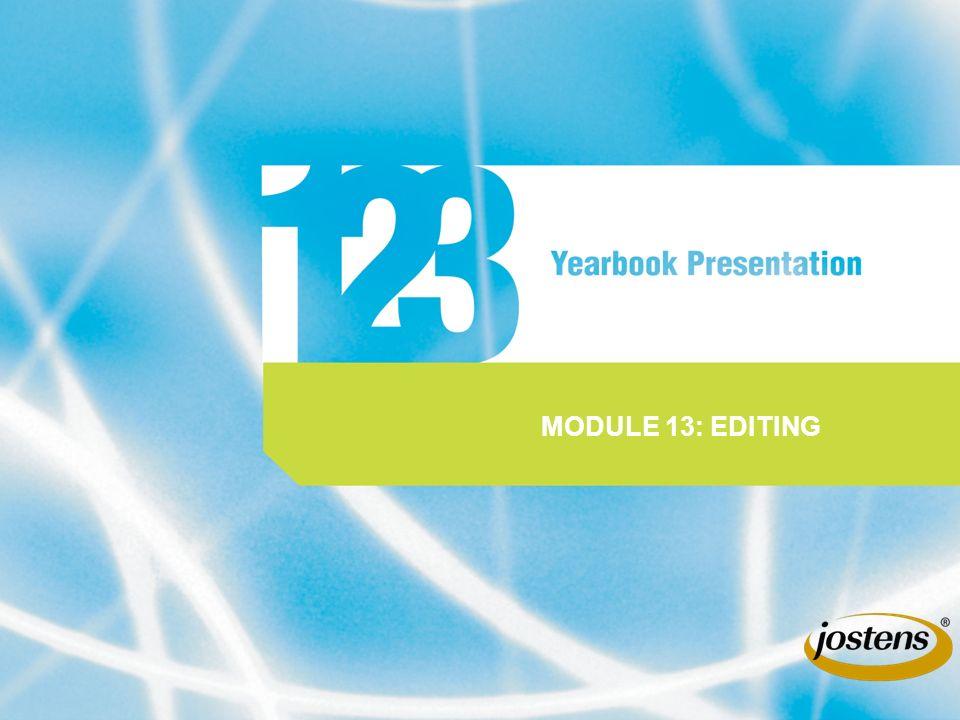 MODULE 13: EDITING