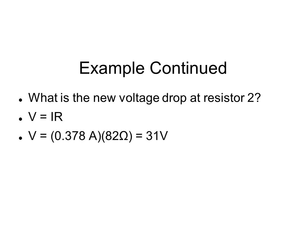 Series Circuit Uses Series circuit can be used as a voltage divider If a certain resistance needs a specific voltage, series circuit can be used to provide that Example p 406 A 9.0 V battery and two resistors R 1 = 400 Ω and R 2 = 500 Ω are connected as a voltage divider.