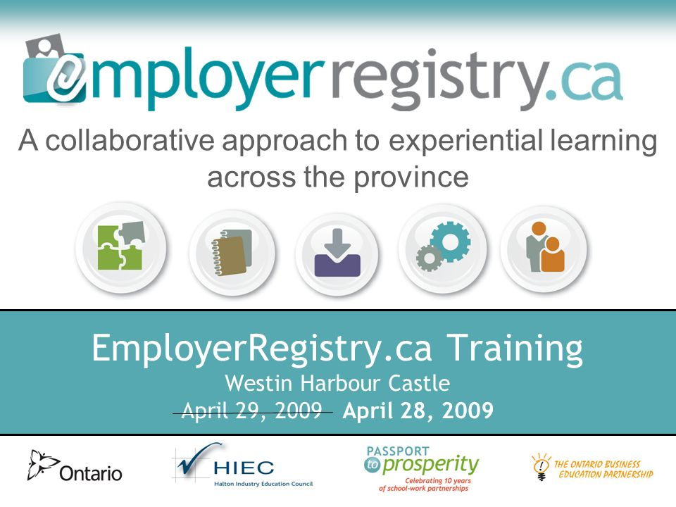Marketing Next Steps Solo banners available to all coordinators today New marketing survey coming soon More materials available by request (quantities permitting) Email Krystin Lovat-Fraser at distribution@employerregistry.ca for details distribution@employerregistry.ca