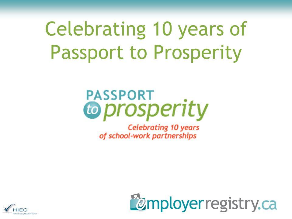 Celebrating 10 years of Passport to Prosperity