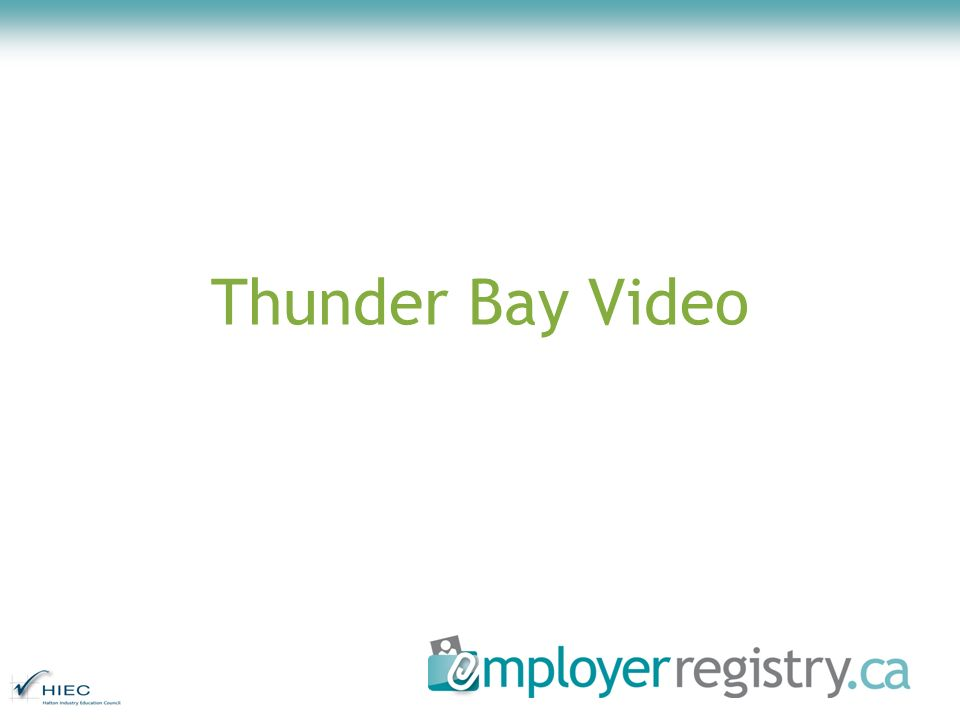 Thunder Bay Video