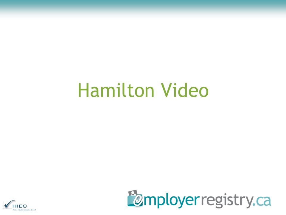 EmployerRegistry.ca 2.5 May 2009 release List of proposed features