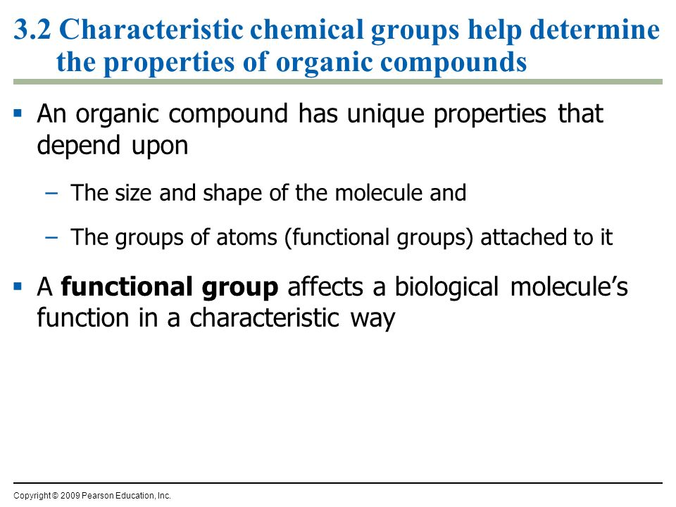 Characteristic Properties of Water 3 2 Characteristic Chemical Groups Help Determine The Properties of Organic