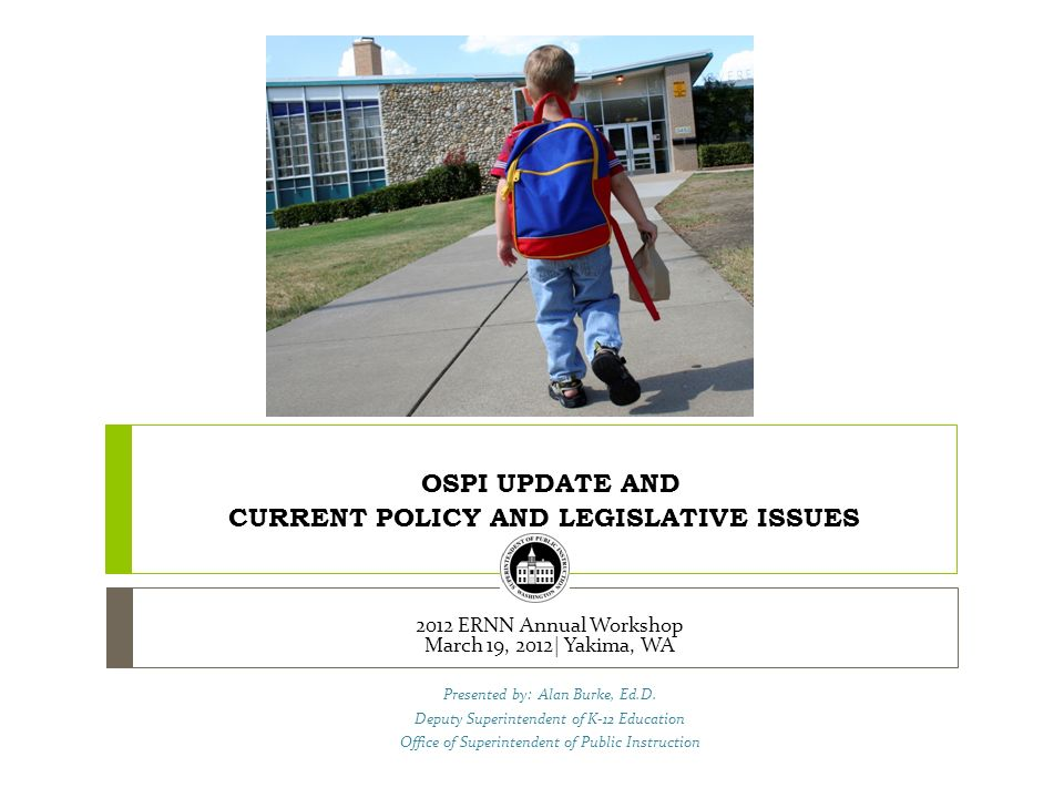 OSPI CCSS Update WASA Small Schools March 2012