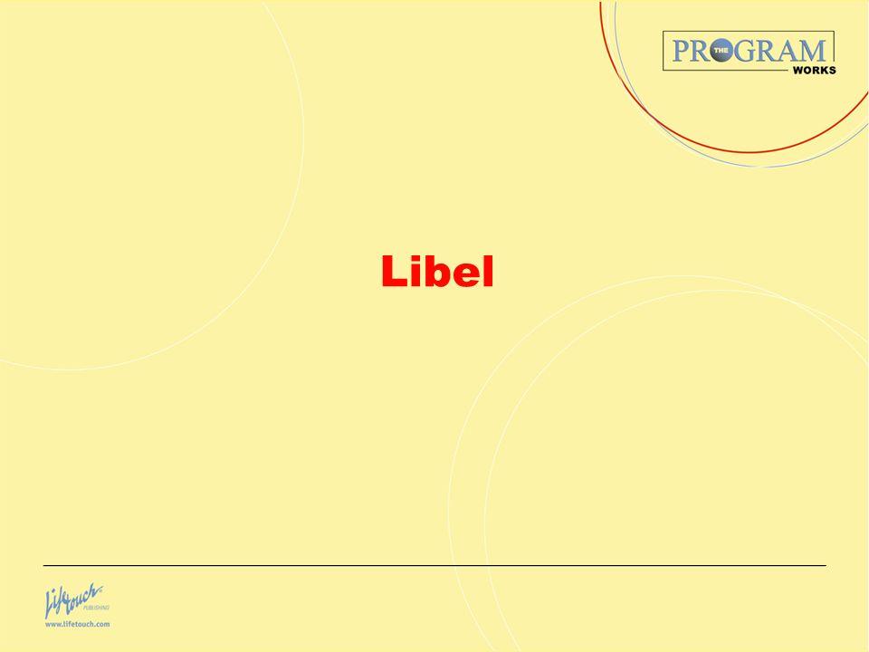 Libel