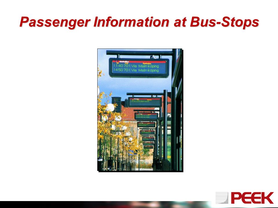 Passenger Information at Bus-Stops