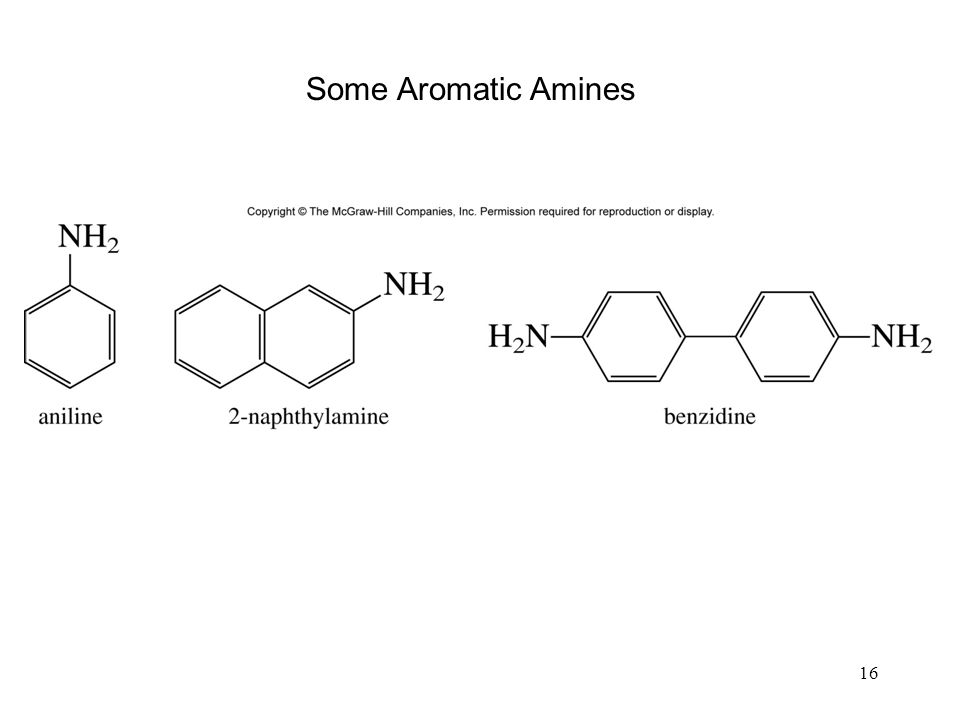 16 Some Aromatic Amines