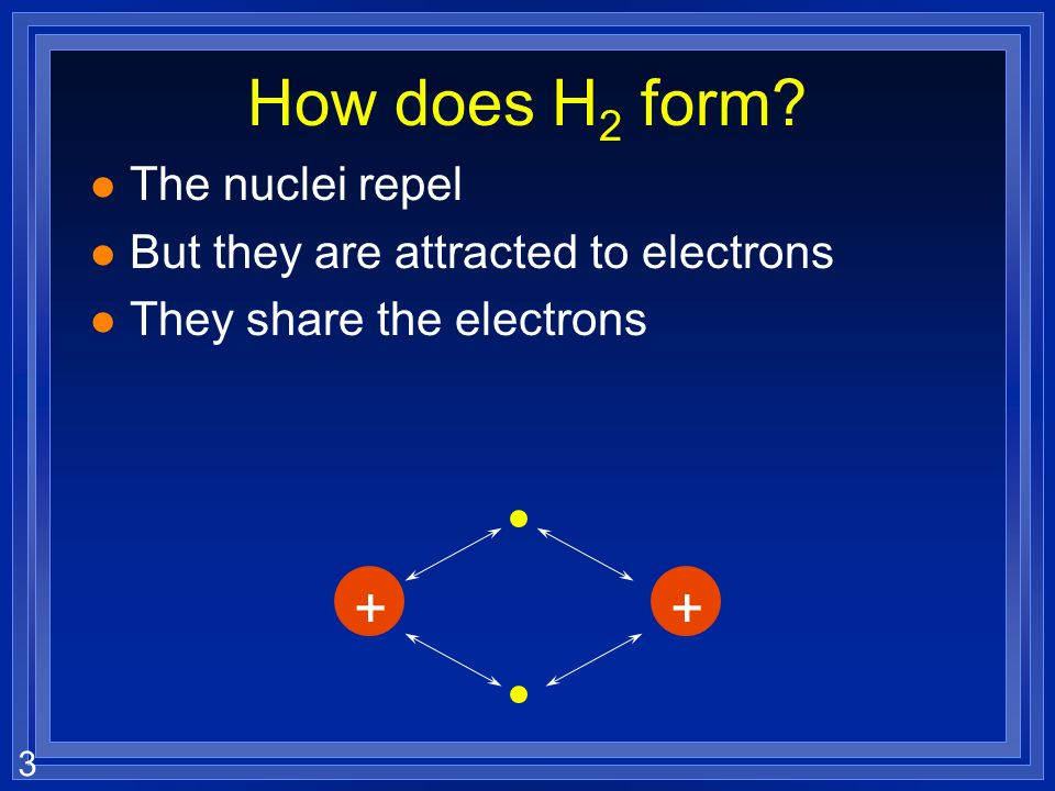 3 How does H 2 form.