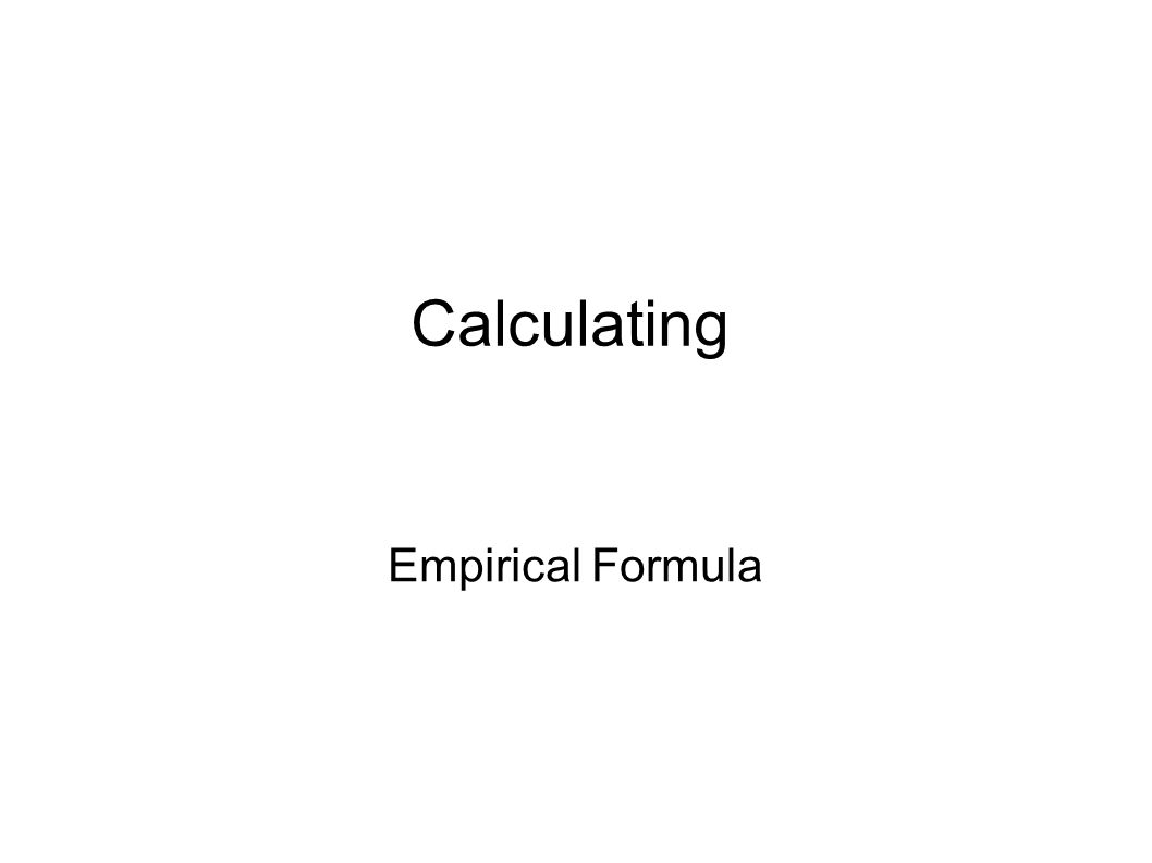 Tells the simplest whole number molar ratio of elements in a compound