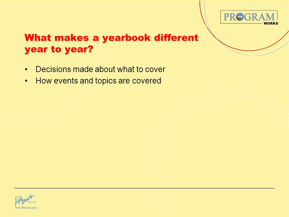 Make your yearbook a record of the year.