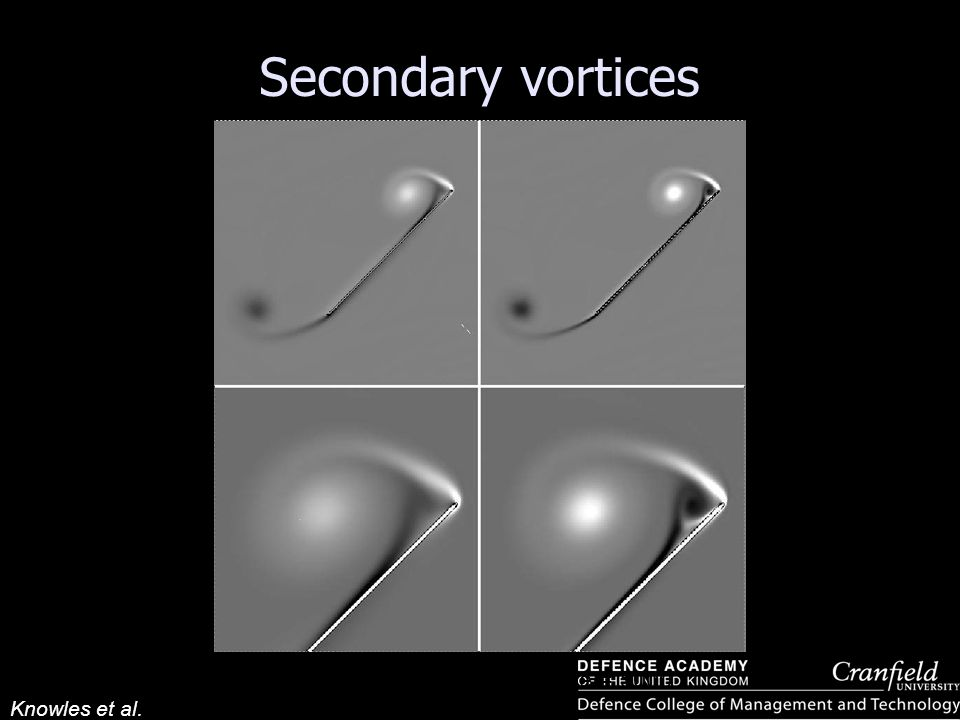 Knowles et al. Secondary vortices Re = 1000 Re = 5000