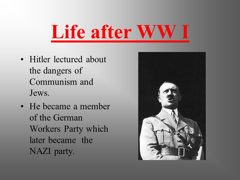 W.W.I He was awarded the Iron Cross twice. (5 medals overall)-this was the highest military honor in the German Army. He single handedly captured 4 Fr