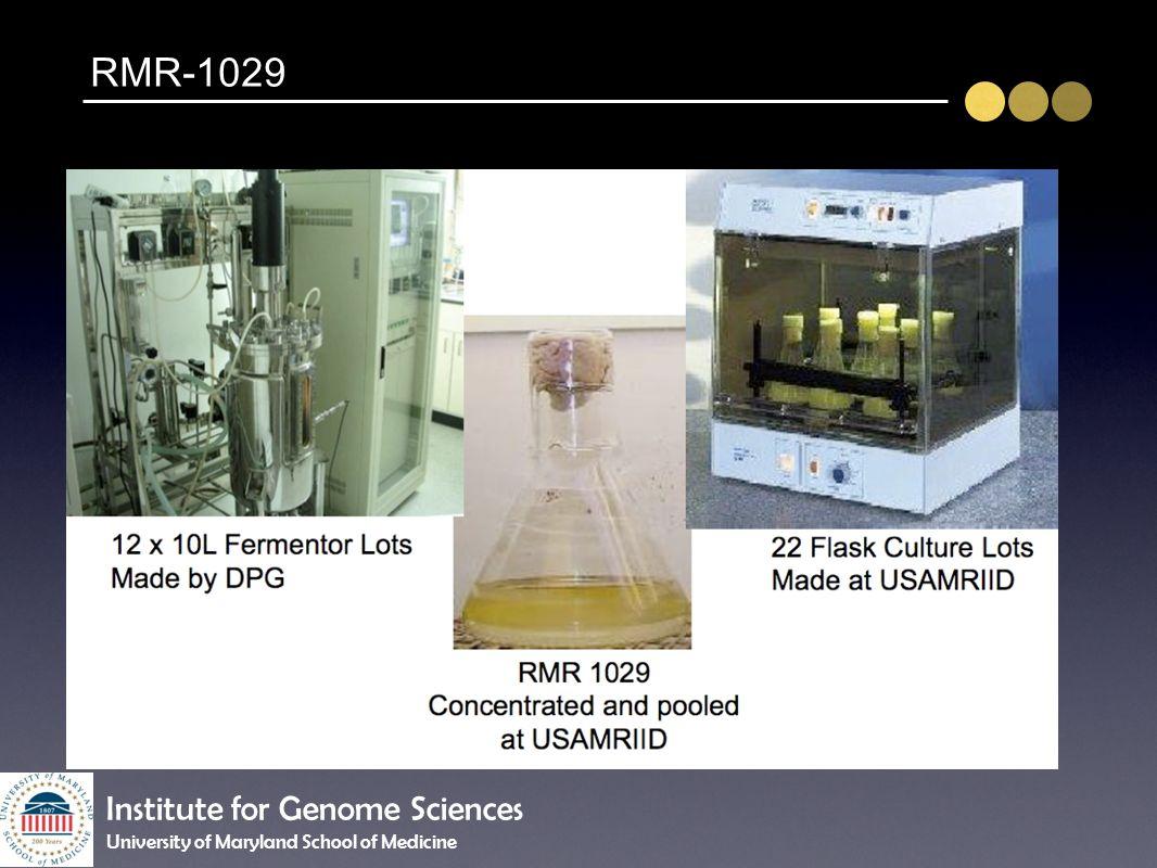 RMR-1029 Institute for Genome Sciences University of Maryland School of Medicine
