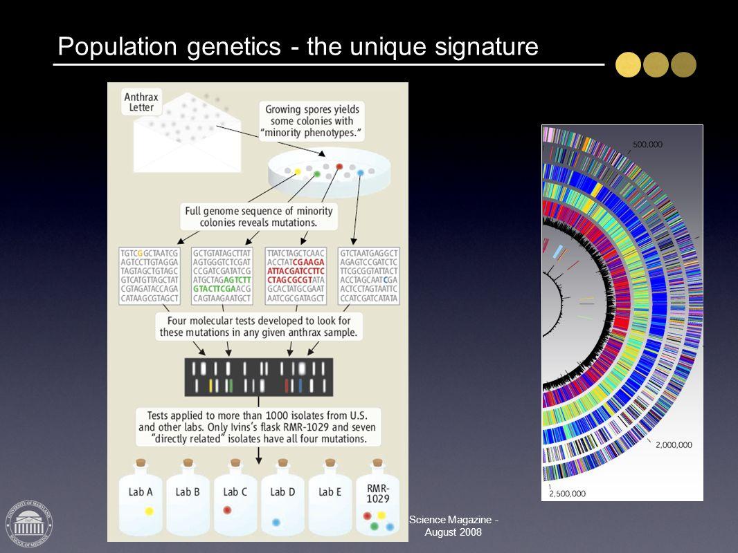 Population genetics - the unique signature Science Magazine - August 2008
