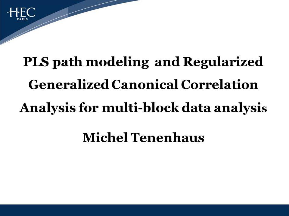 PLS path modeling and Regularized Generalized Canonical Correlation Analysis for multi-block data analysi s Michel Tenenhaus