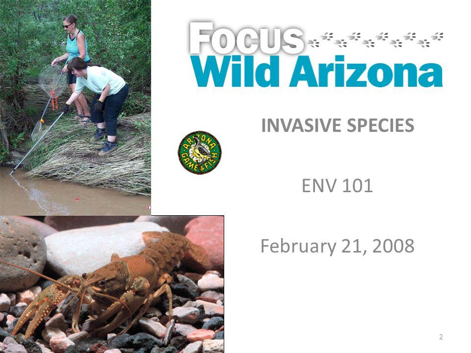 2 INVASIVE SPECIES ENV 101 February 21, 2008