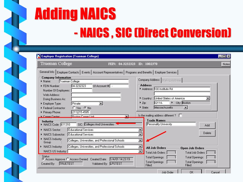 Adding NAICS - NAICS, SIC (Direct Conversion)