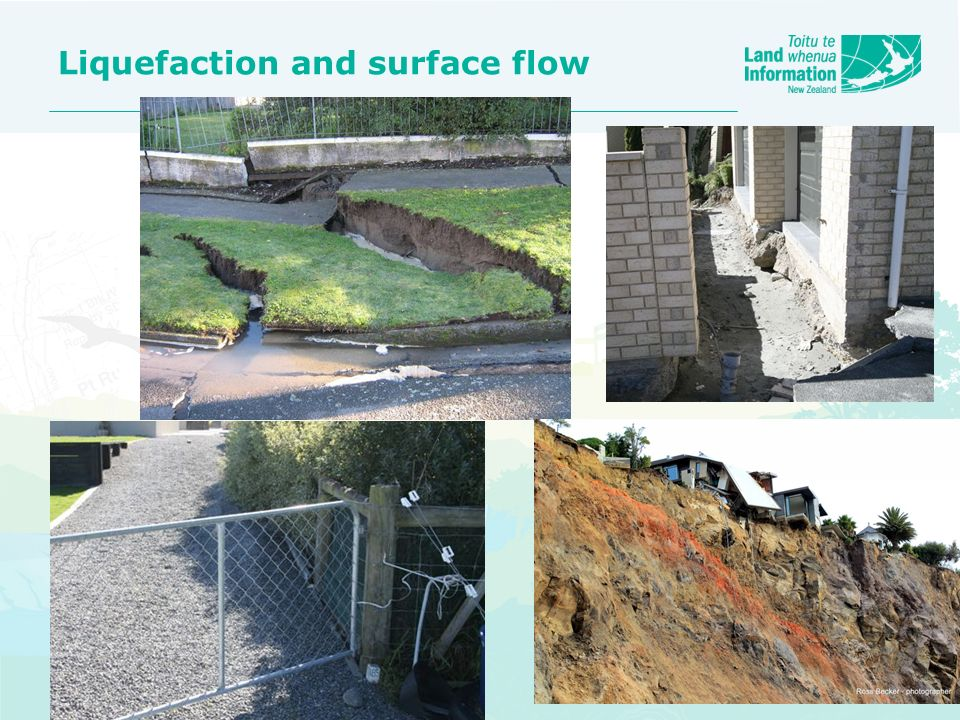 Liquefaction and surface flow