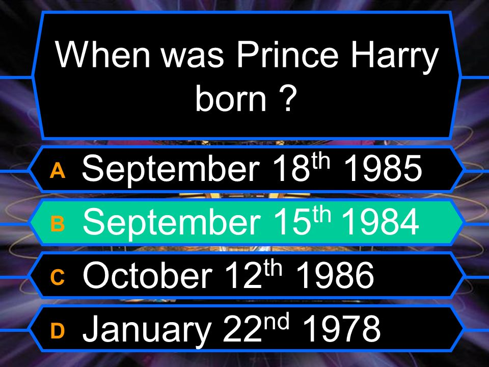 When was Prince Harry born .