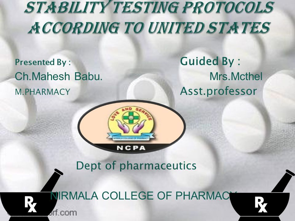 Stability testing is an integral part of pharmaceutical development.