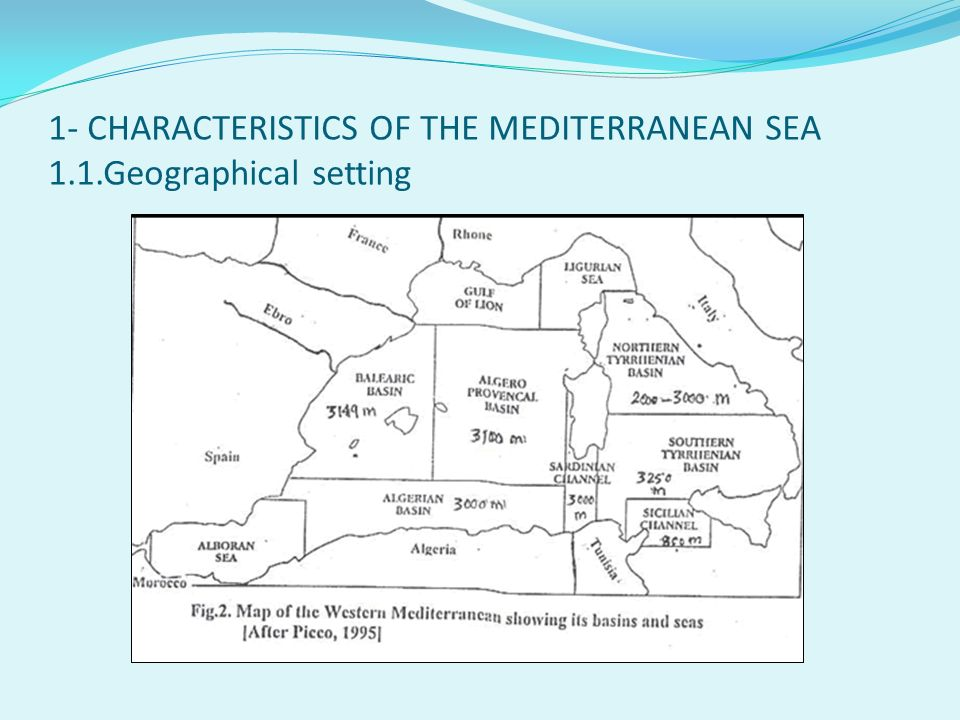 1- CHARACTERISTICS OF THE MEDITERRANEAN SEA 1.1.Geographical setting